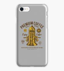Premium Coffee Press Machine Retro Vintage Distressed Design iPhone Case/Skin