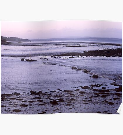Cold Sunset at Cramond Poster