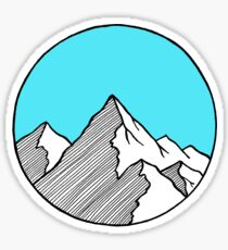 Mountain Sketch Sticker
