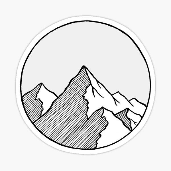 Mountains Sketch Sticker