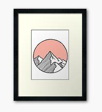 Mountains Sketch Framed Print