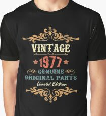 40th Birthday Tshirt Vintage 1977 Genuine Original Parts Limited Edition Graphic T Shirt
