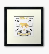 Proud to be a Hufflepuff Framed Print