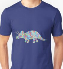 Bright Pattern Triceratops doodle  T-Shirt