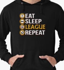 League Of Legends Eat Sleep League Repeat Funny Gifts Lightweight Hoodie