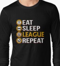 League Of Legends Eat Sleep League Repeat Funny Gifts T-Shirt
