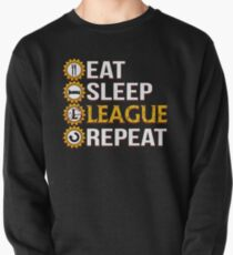 League Of Legends Eat Sleep League Repeat Funny Gifts Pullover