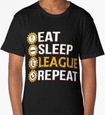 League Of Legends Eat Sleep League Repeat Funny Gifts Long T-Shirt