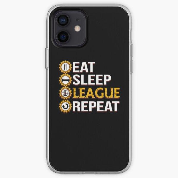League Of Legends Mangez Sleep League Répétez des cadeaux drôles Coque souple iPhone