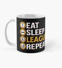 Liga der Legenden essen Schlaf-Liga-Wiederholungs-lustige Geschenke Tasse