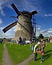 A Kinderdijk Windmill  by George Row