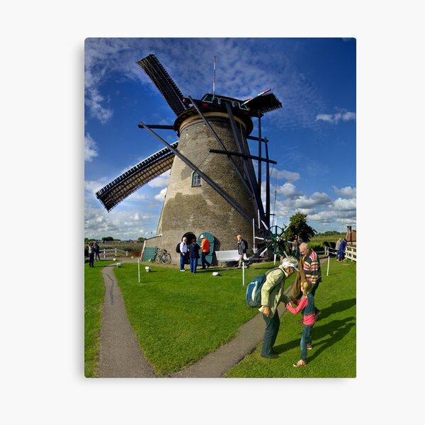 A Kinderdijk Windmill  Canvas Print