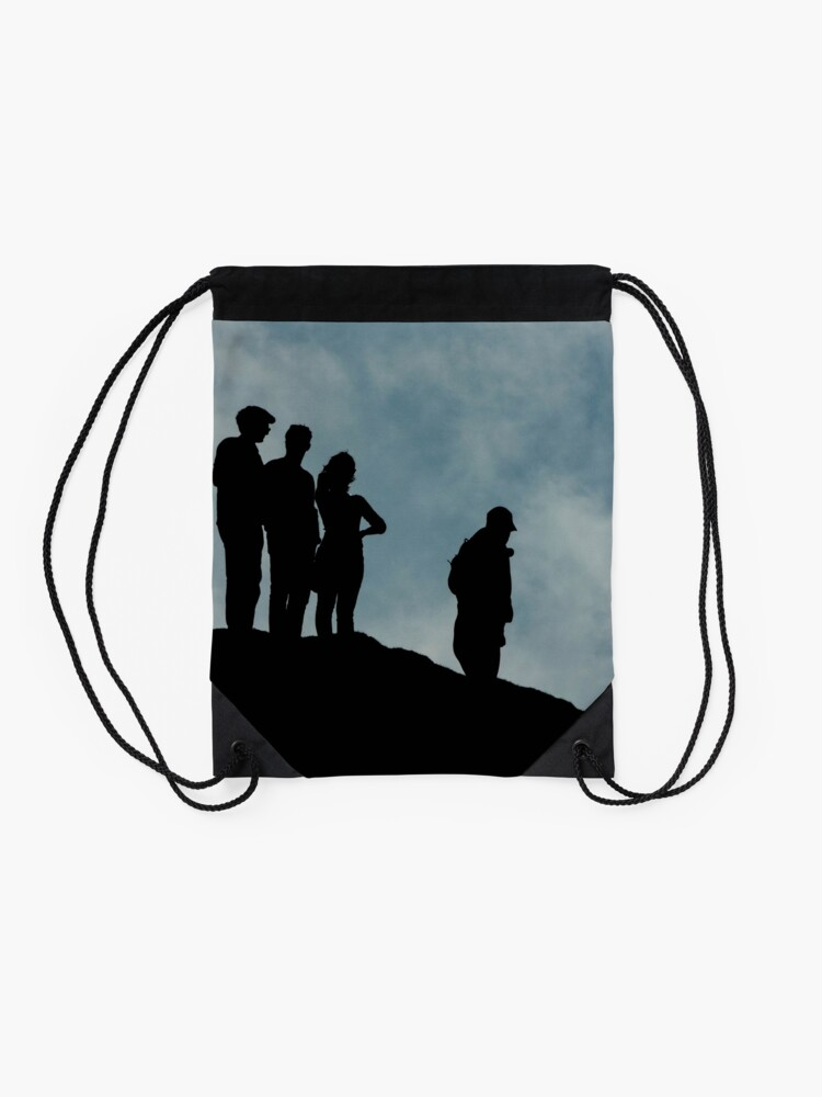 Alternate view of shadows on the hilltop  Drawstring Bag