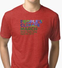 People's Climate March - New York City NYC - April 29, 2017 Tri-blend T-Shirt