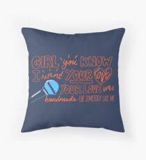 i wan't your love Throw Pillow