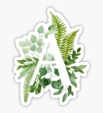 Floral Letter A Sticker