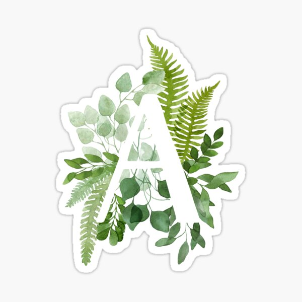 Floral Letter A Sticker