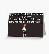 Guybrush talking to Elaine Greeting Card
