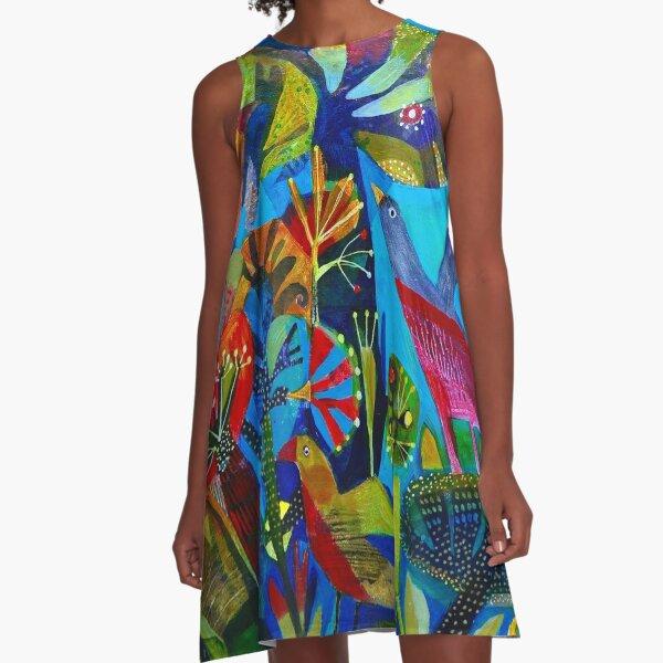 Bright garden. A-Line Dress