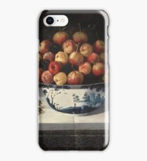 Hiepes, Tomas - Delft Fruit Bowl And Two Vases Of Flowers iPhone Case/Skin