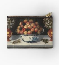 Hiepes, Tomas - Delft Fruit Bowl And Two Vases Of Flowers Studio Pouch