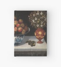 Hiepes, Tomas - Delft Fruit Bowl And Two Vases Of Flowers Hardcover Journal