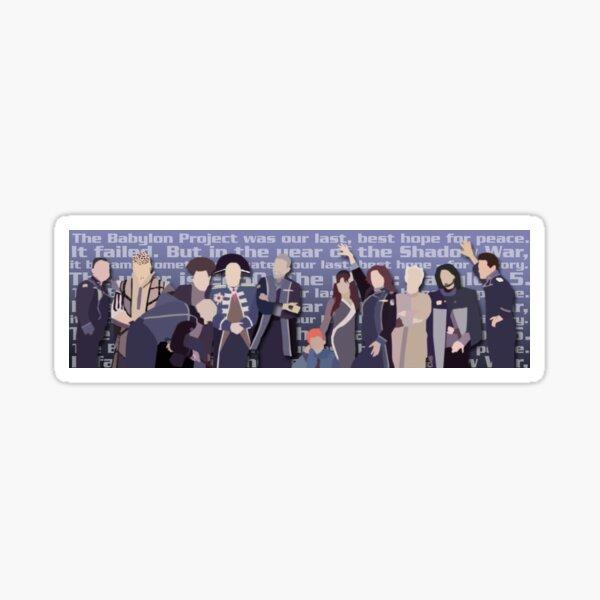 The Babylon Project - Cast Portrait Sticker
