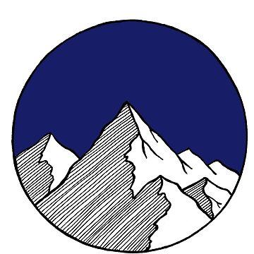 Bosquejo de montañas de smalltownnc
