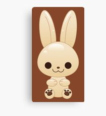 kawaii white chocolate bunny Canvas Print