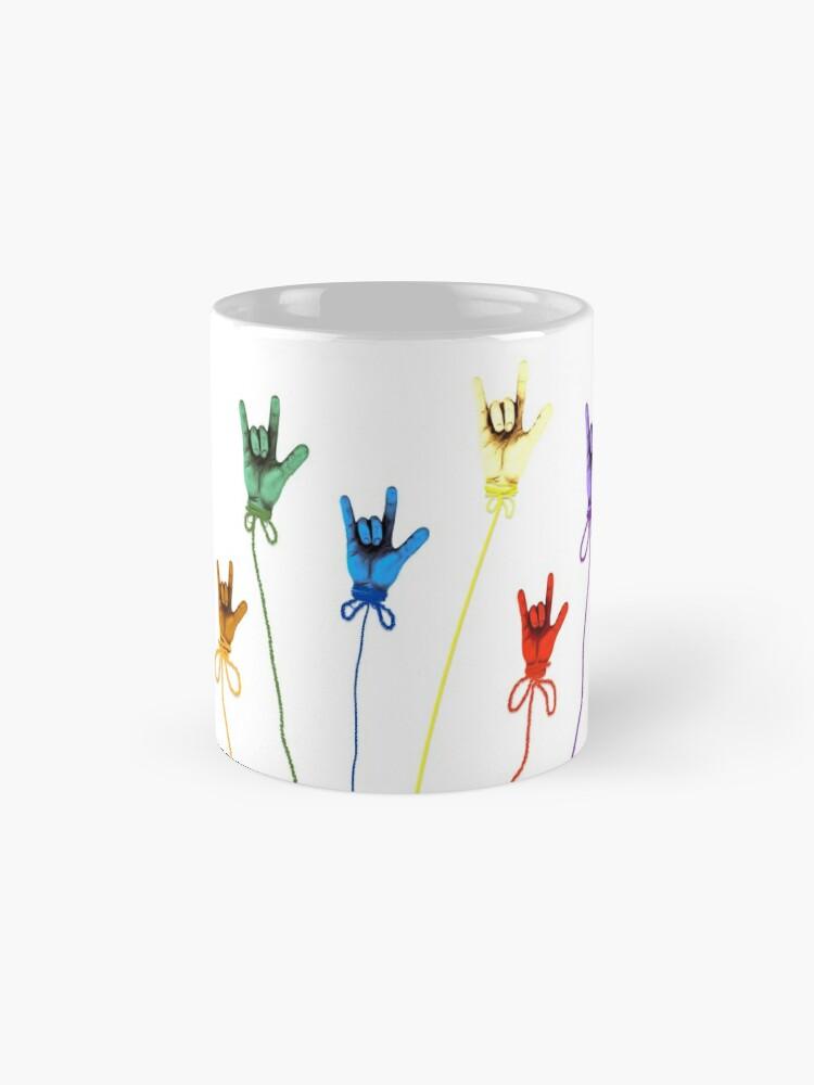 Alternative Ansicht von Ich liebe dich - Regenbogen Tassen
