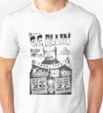 GG Allin Tour Shirt Unisex T-Shirt