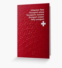 Swiss Passport Greeting Card