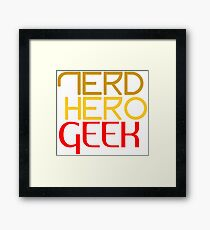Nerd hero geek red Framed Print