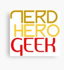 Nerd hero geek red Canvas Print