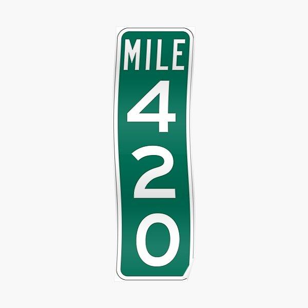 Marqueur de 420 milles Poster