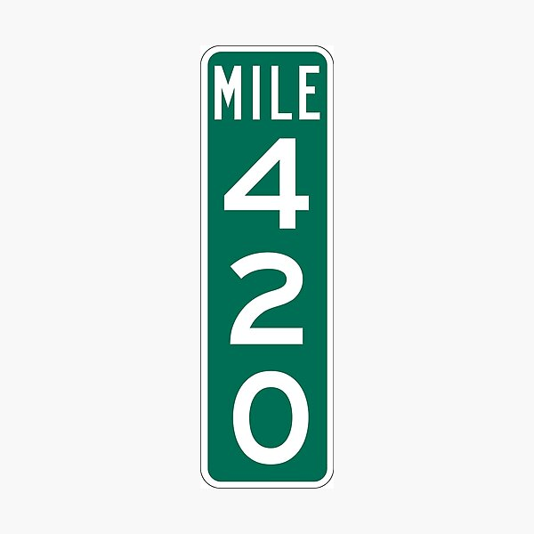 420 Mile Marker Photographic Print