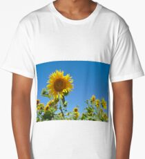 Field of Summer Sunflowers Long T-Shirt