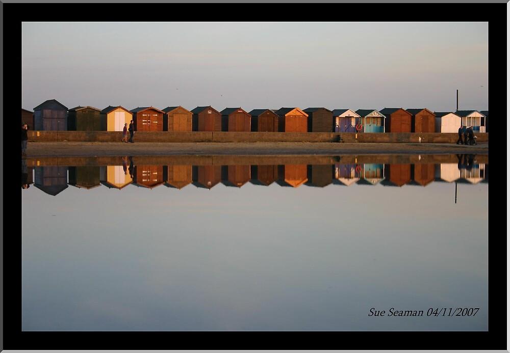 Beach Huts by sueseaman