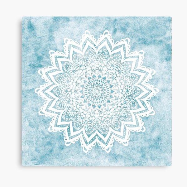 MANDALA SAVANAH LIGHT BLUE Canvas Print