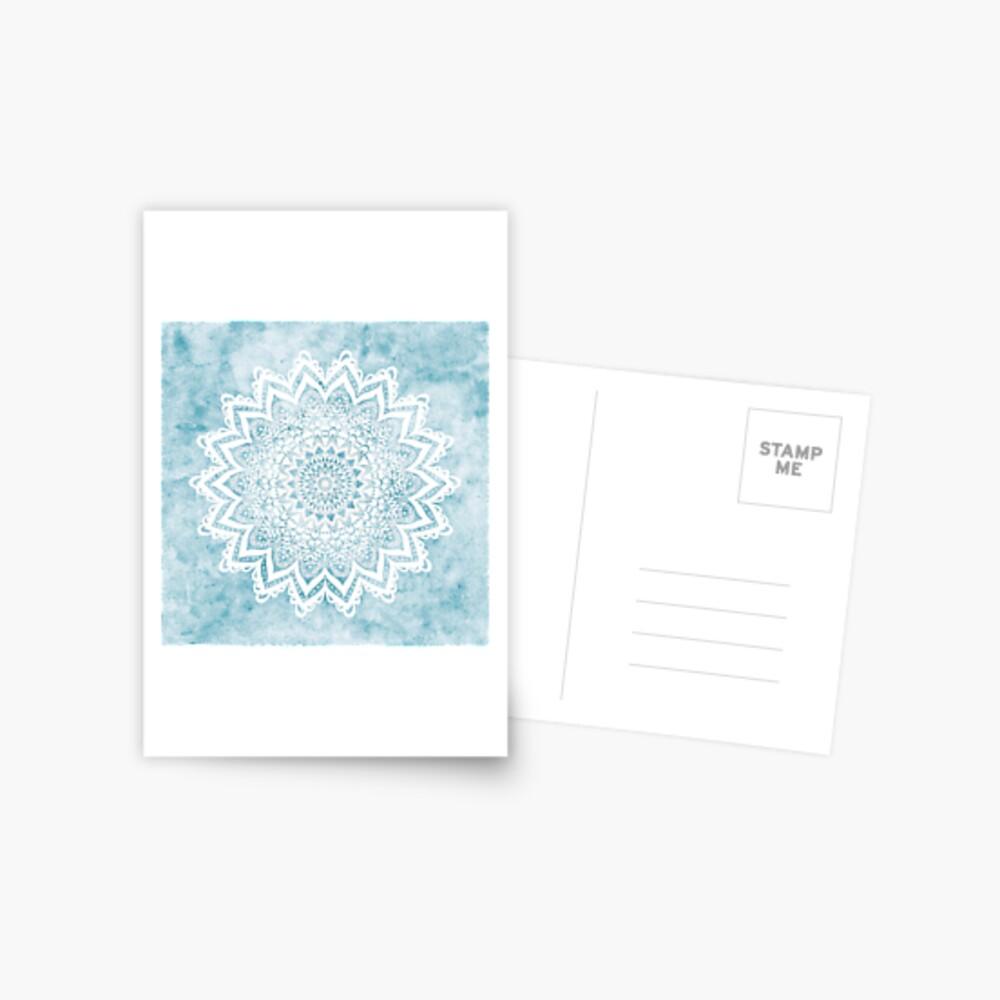 MANDALA SAVANAH LIGHT BLUE Postcard