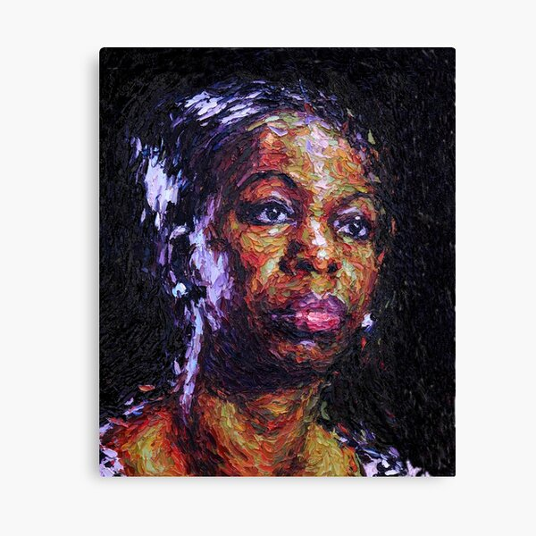 Black is the colour of my true love's hair - Nina Simone Canvas Print