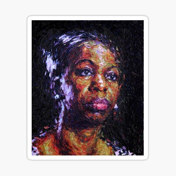 Black is the colour of my true love's hair - Nina Simone Sticker
