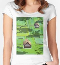 Rice paddy field Women's Fitted Scoop T-Shirt