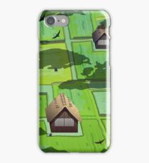 Rice paddy field iPhone Case/Skin