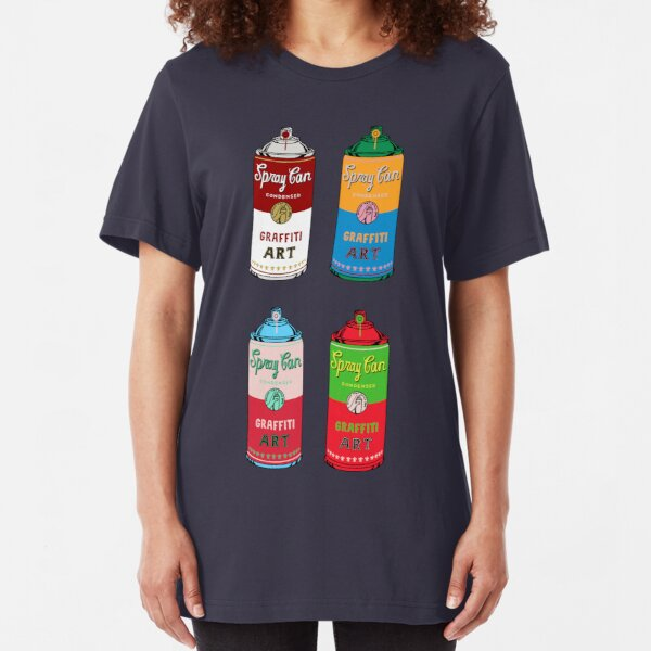 Spray can art Slim Fit T-Shirt