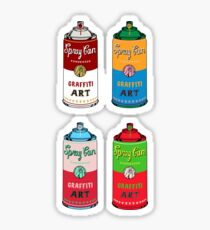 Spray can art Sticker