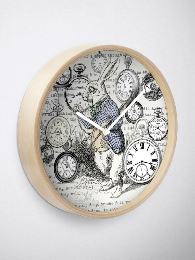 Alternate view of White Rabbit Alice in Wonderland Watches Time Clock