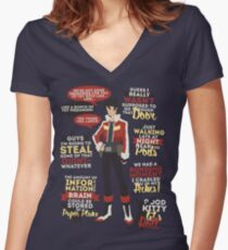 Keith Quotes Women's Fitted V-Neck T-Shirt