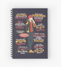 707 Quotes Spiral Notebook