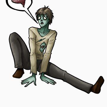 Sad Zombie by greekamazon